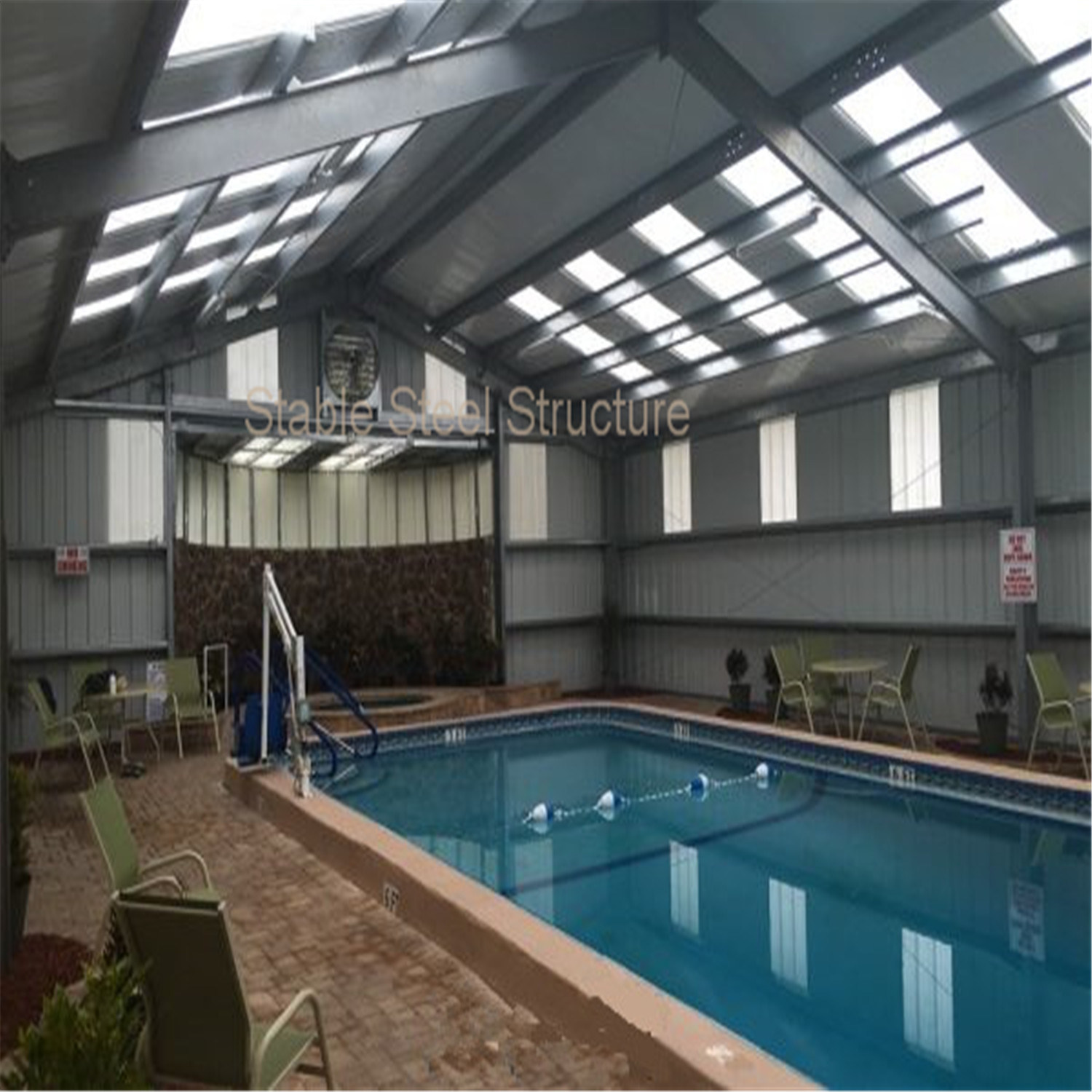[Hot Item] Long-Span Prefabricated Steel Structure for Swimming Pool
