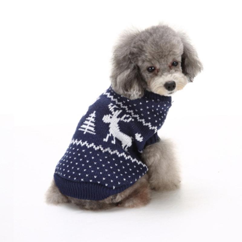 China New Design Small Dog Sweater Knitting Pattern Factory China