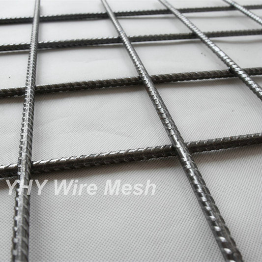 China Black Ribbed Welded Concrete Wire Mesh Screen Sheet - China ...