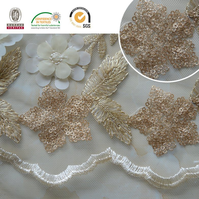 Embroidery Sequins Chiffion Lace Fabric Lurxe Lace pictures & photos