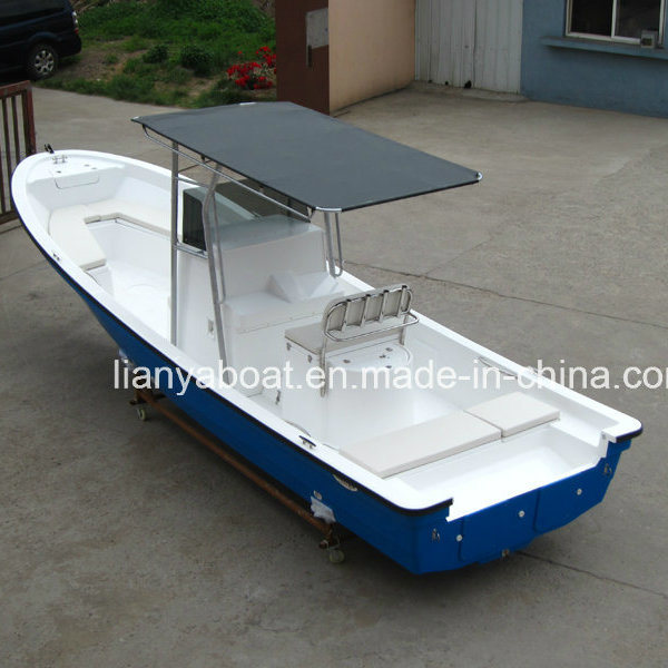 Liya 7.6m Fishing Yacht FRP Panga Boat Yacht for Sale