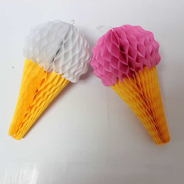 China Honeycomb Paper Icecream For Birthday Decoration Favors
