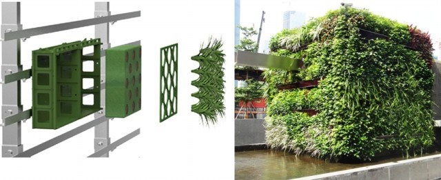 China Plastic Modular Planter For Living Wall Vertical