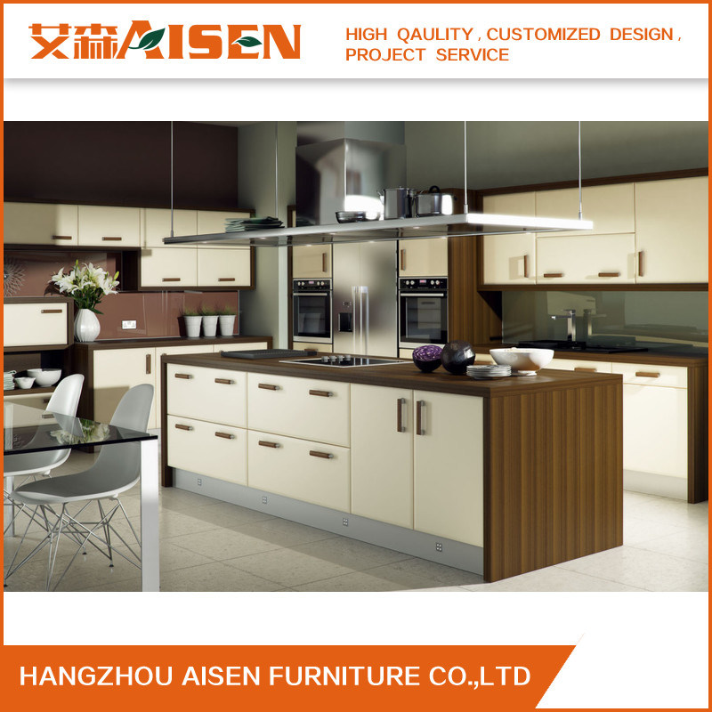 China Vinyl Wrapped Mdf And Melamine Carcass Kitchen Cabinet China
