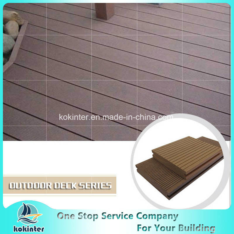 Wood Compesite Recyclable WPC Crack-Resistant Decking pictures & photos