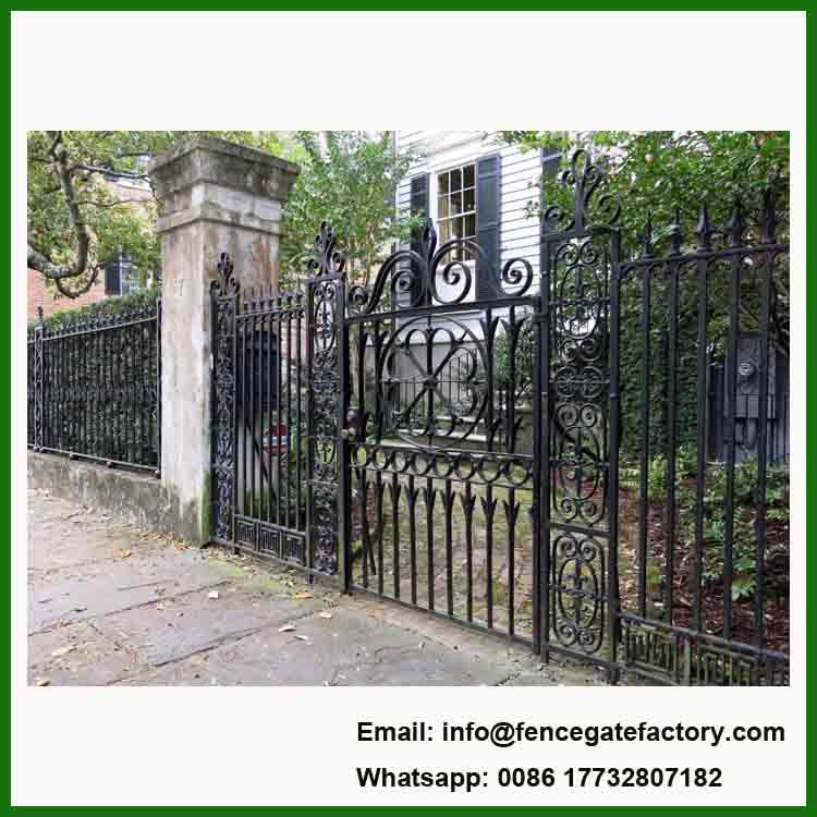 China House Simple Wrouht Iron Gate Grill Design China Cast
