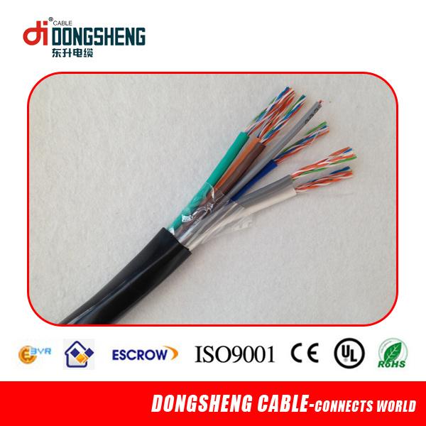 China 10 Pair Underground Cat3 Telephone Spiral Cable - China ...