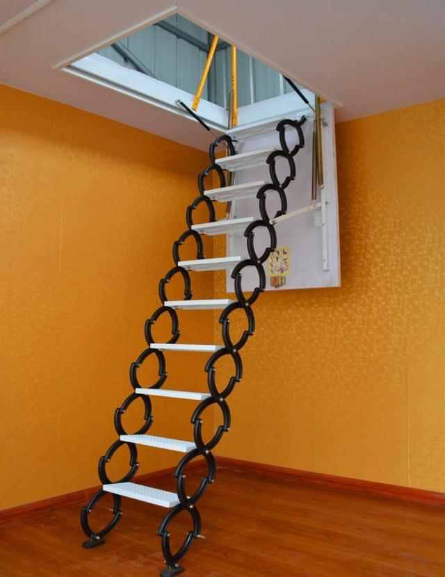 Folding Ladder For Attic Image Balcony And Attic