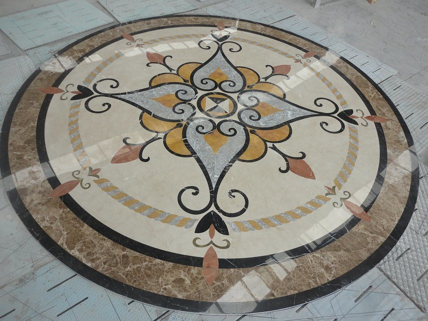Waterjet Medallion for Flooring Tile pictures & photos
