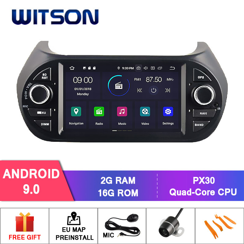 [Hot Item] Witson Quad-Core Android 9 0 Car DVD GPS for Deckless FIAT  Fiorino External Microphone Included