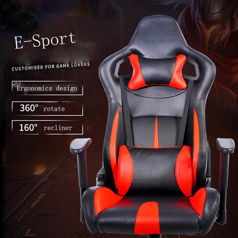 China Black Blue Leather Adjustable Recaro E Sports Racing Car Seat China Adjustable Car Seat High Speed Rail Seat