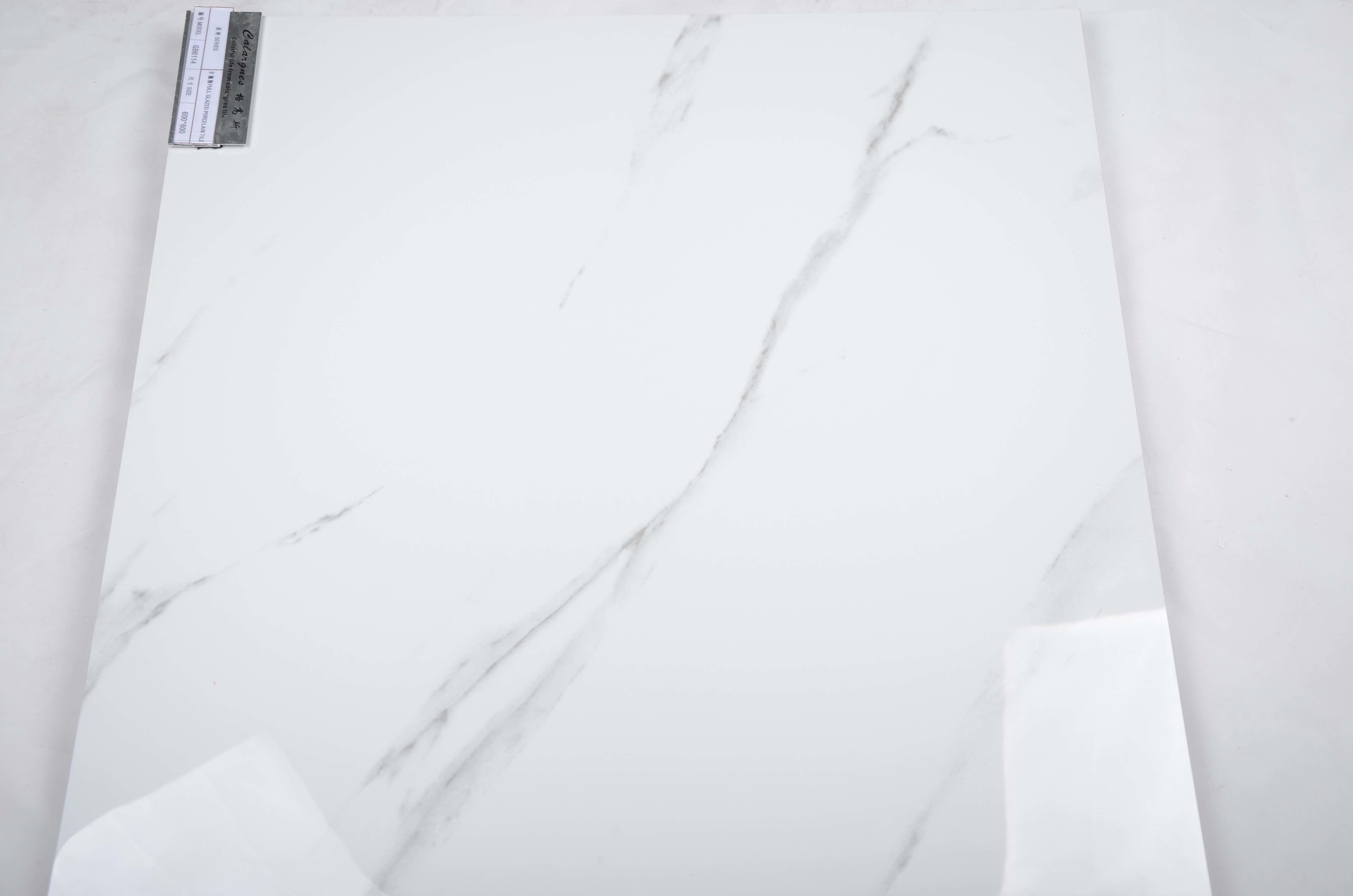 Hot Item Jazzi White Carrara Full Glazed Polished Porcelain Floor Tile Stone