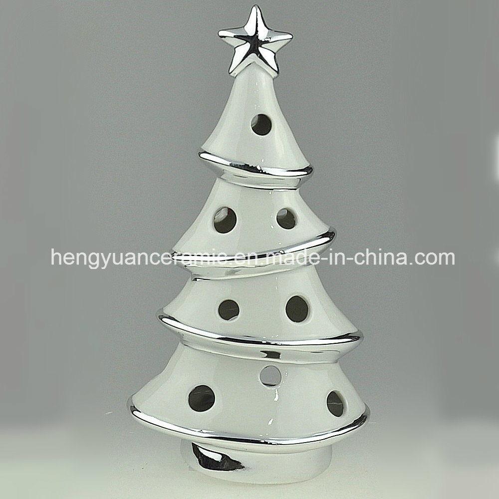 Christmas Tree Candle Holder.Hot Item Spot Goods Ion Plating Christmas Tree Shaped Candle Holders Ceramic