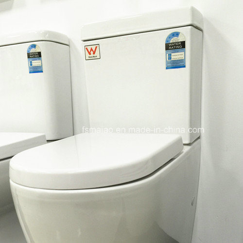 Watermark Approval 4.5/3litre Wall Faced Round Toilet Suite (6010) pictures & photos