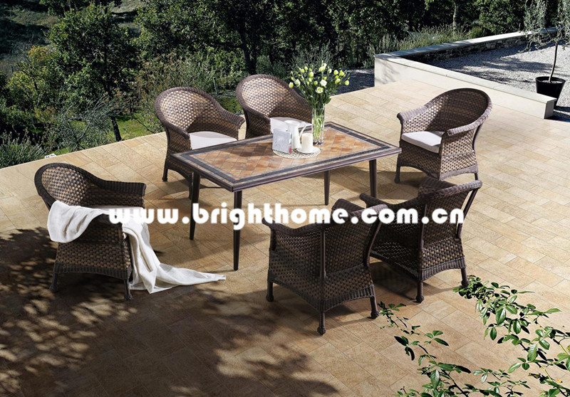 Hot Item Patio Dining Set Resin Wicker Outdoo Garden Outdoor Furniture Bp 3017d A