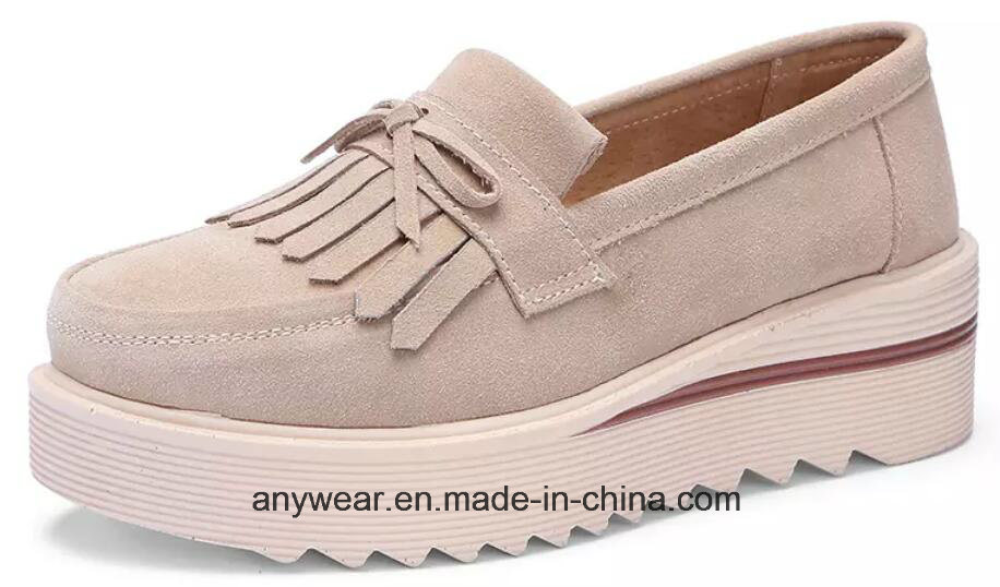 bd03090bc4f76 China Ladies Designer Chunky Heels Women Flat Shoes (258) - China Women′s  Shoes, Slip on