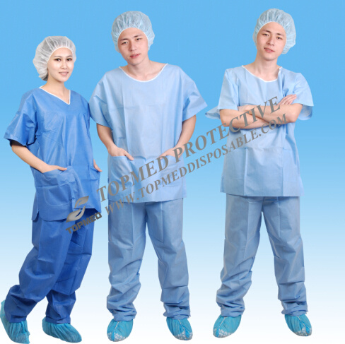 Nonwoven Disposable Doctor Suits, SMS Doctor Uniform for Surgical