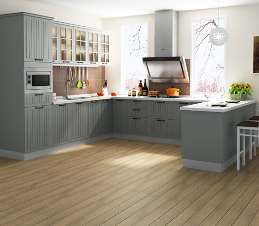 [Hot Item] American Style Grey Color Kitchen Cabinets