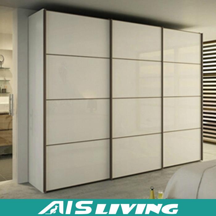 China Melamine Mdf Wardrobe Glass Sliding Door Closet Ais W017