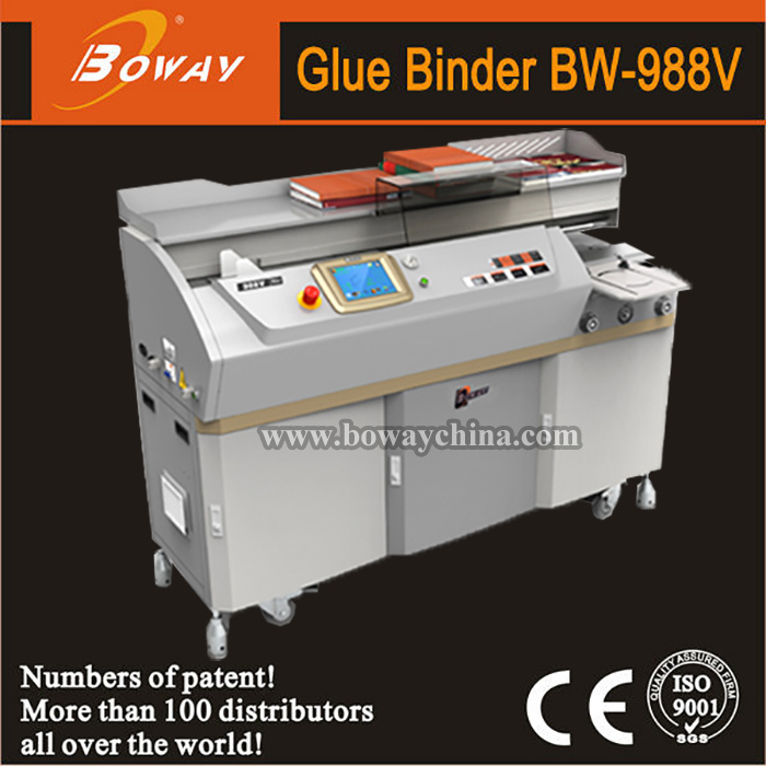Boway Perfect Book Hot Melt Glue Binding Machine (BW-988V) pictures & photos