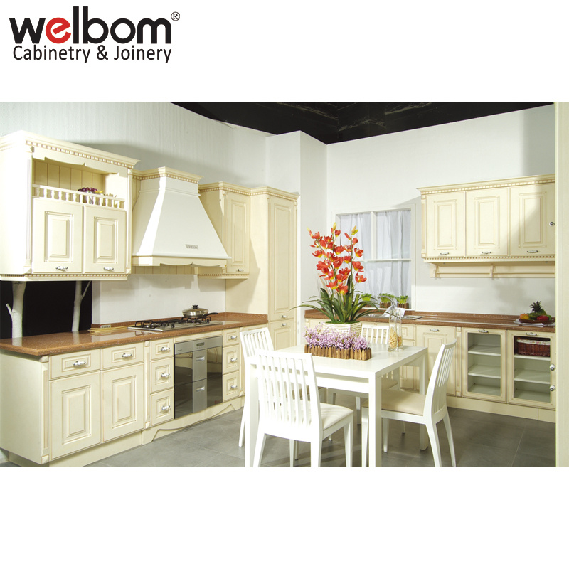 Hot Item Welbom Newest Champagne Kitchen Cabinets