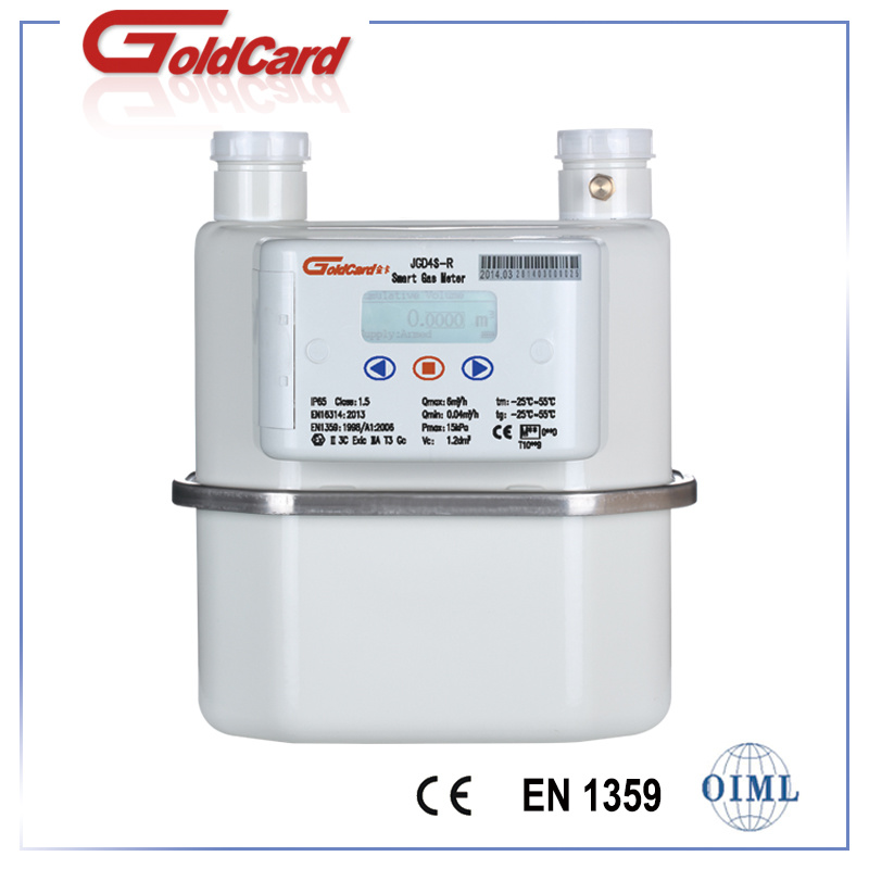 G4 Steel Domestic Smart Gas Meter-Zigbee/GPRS/Wmbus
