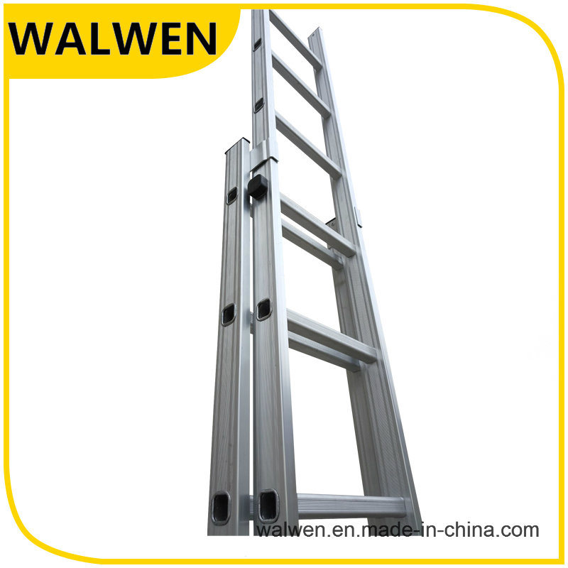 2 Section Multi-Purpose Aluminum Telescopic Folding Ladder