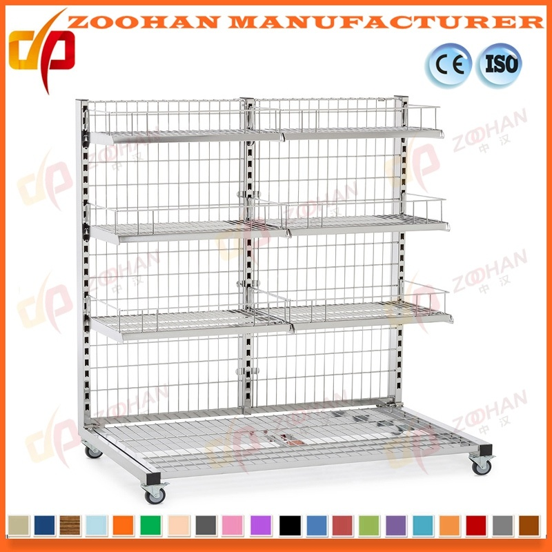 China Store Display Fixtures Single Sided Back Wire Supermarket ...