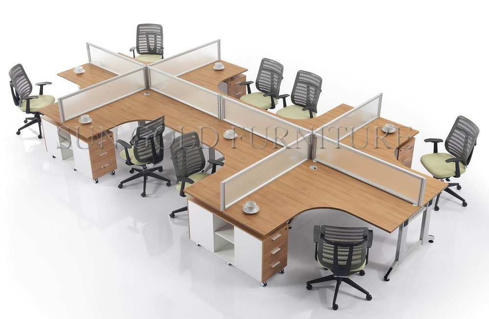 China Modular Furniture Easy Assembling Aluminum Office Workstation Partition Sz Wst754