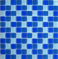 [Hot Item] Best Price Mixed Blue Crystal Glass Mosaic Tile for Swimming Pool