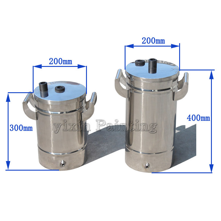 Small Stainless Steel Powder Barrels