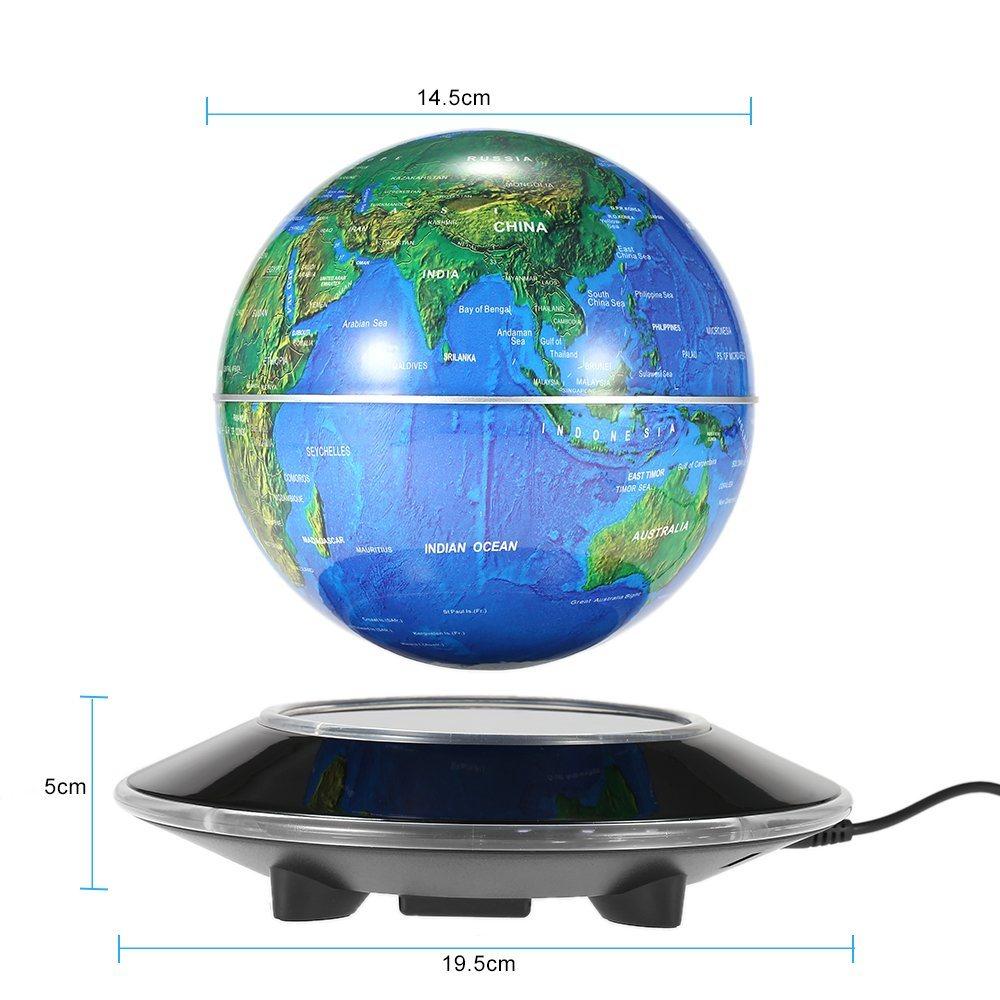 China 6 Led Floating Maglev Globe Awesome Magnetic Levitation Excellent Desktop Decor Tellurion Table Decoration