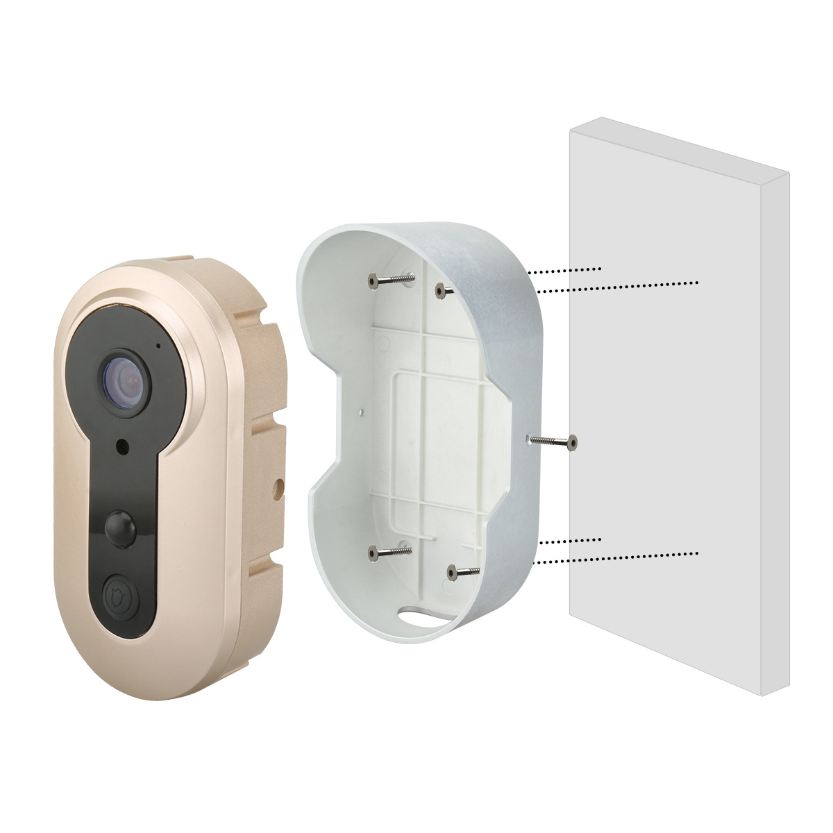 Battery Operated Wireless Security Door Cameras Remote Ring HD Phone Smart PIR Motion Sensor WiFi Video Doorbell pictures & photos