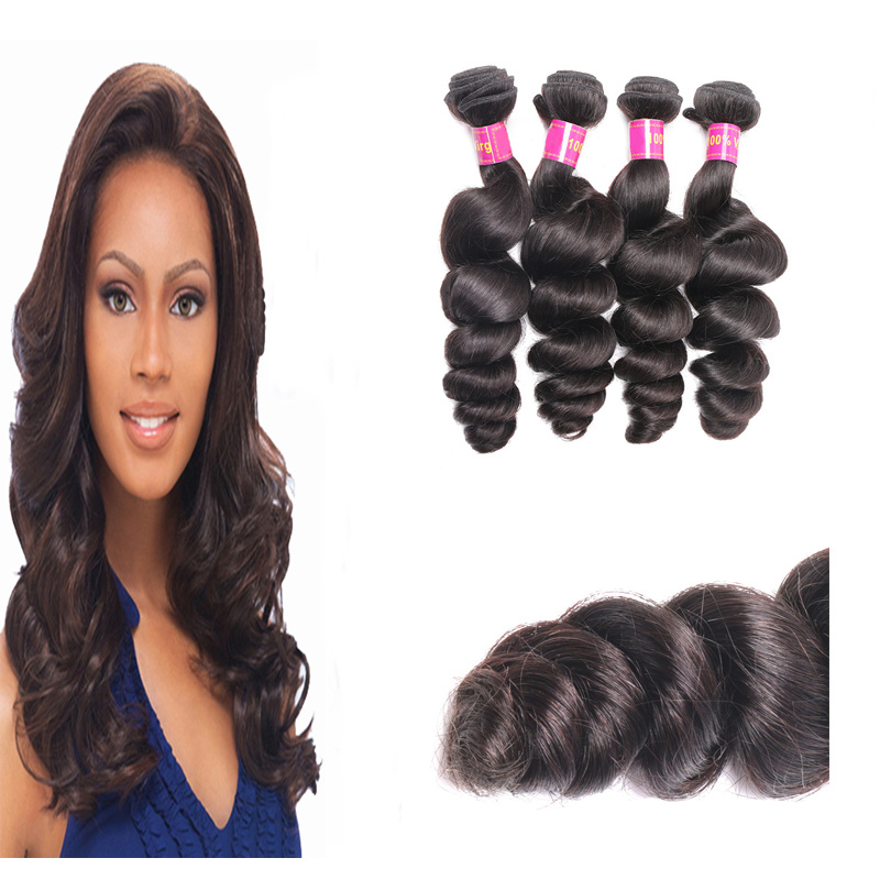 China Cuticle Remy Human Hair Sewn In Hair Extensions Virgin