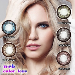 Color contact lenses for eyes