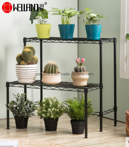 China Floor Stand Space Saving Diy Style Steel Plant Flower Pot Holder Shelf Display Rack For Garden China Display Rack For Garden And Display Shelf For Garden Price