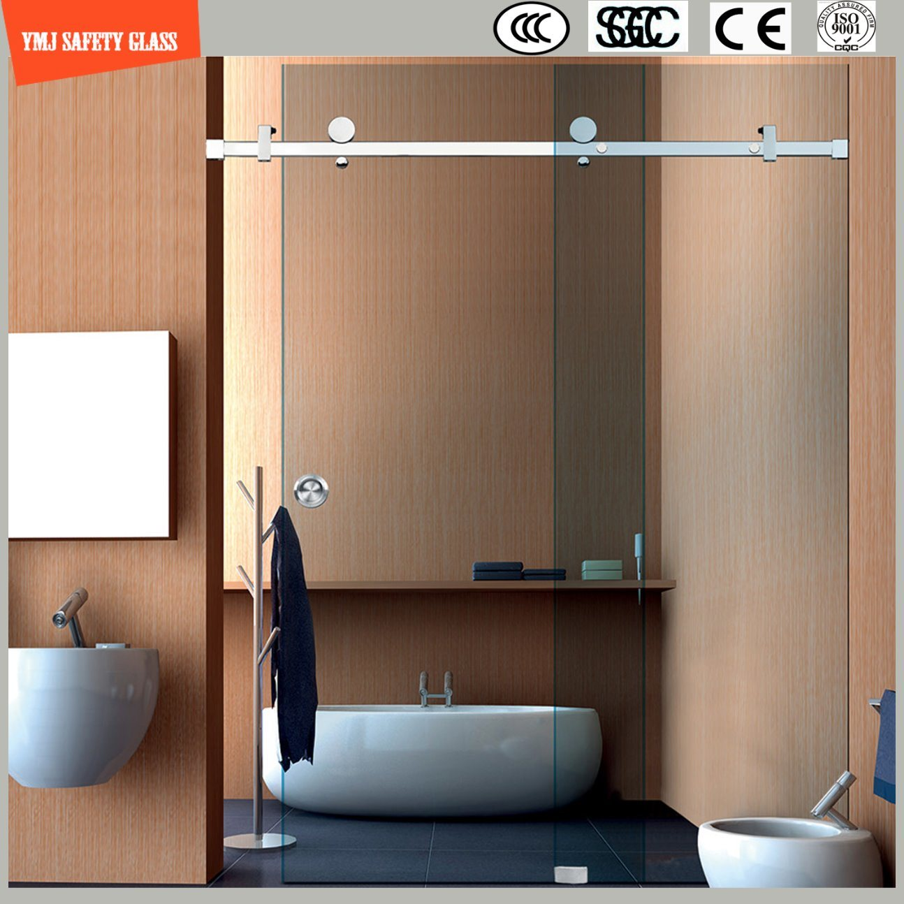 China Adjustable 6-12 Tempered Glass Simple Sliding Shower Room ...