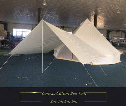 China 3m 4m 5m 6m Cotton Canvas Bell Tent With Awning Tarp China Bell Tent And Bell Tent With Awning Price