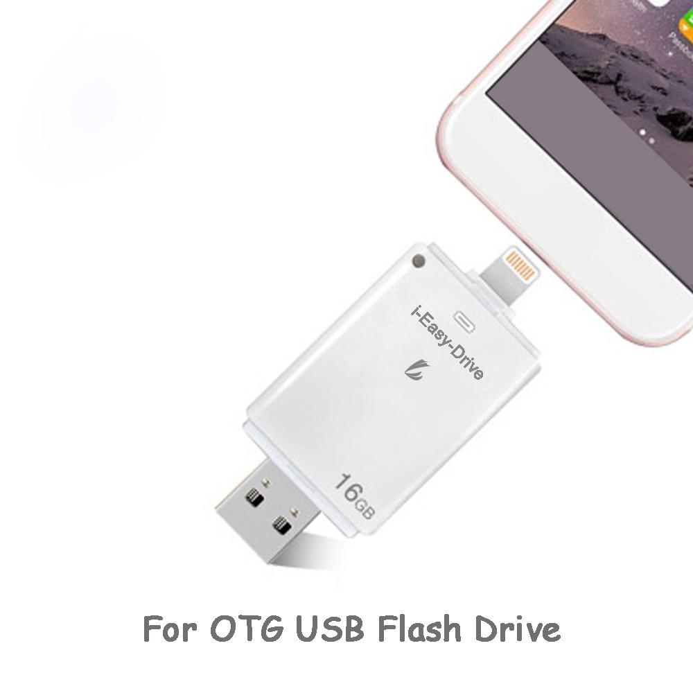 China Otg 128gb Pen Drive Key Pendrive For Ipad Android Pc Iphone Iflash Device Hd Card Reader Mini Flash Usb Ios Memory Stick Drives