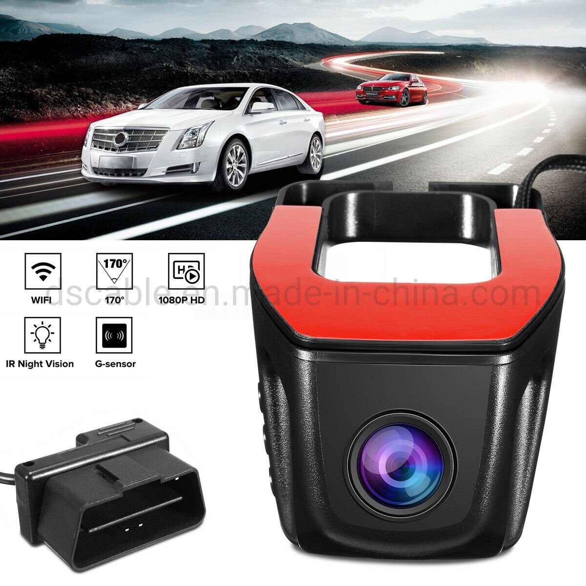 1080P WIFI DVR Vehicle Camera Hidden Car HD Video Recorder Dash Cam Night Vision