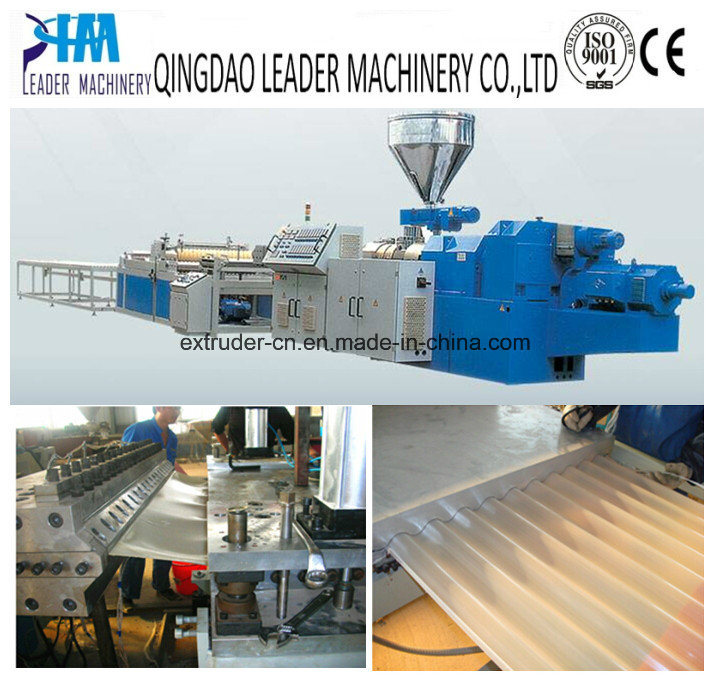 China Pvc Pp Plastic Round Waves Corrugated Roofing Sheet Production Line China Production Line Sheet Production Line