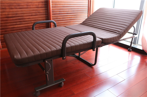 Japanese Futon Bed Iron Steel Pipe Folding Bed For Hotels