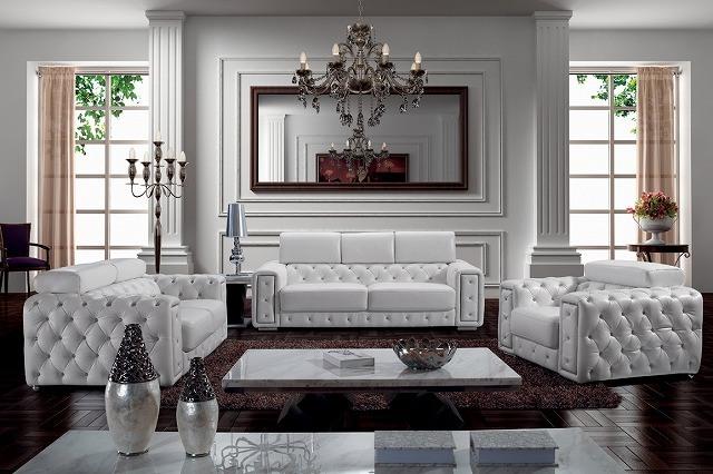 China Crystal Sofa European Style Leathr Sbo 3025 Furniture Home
