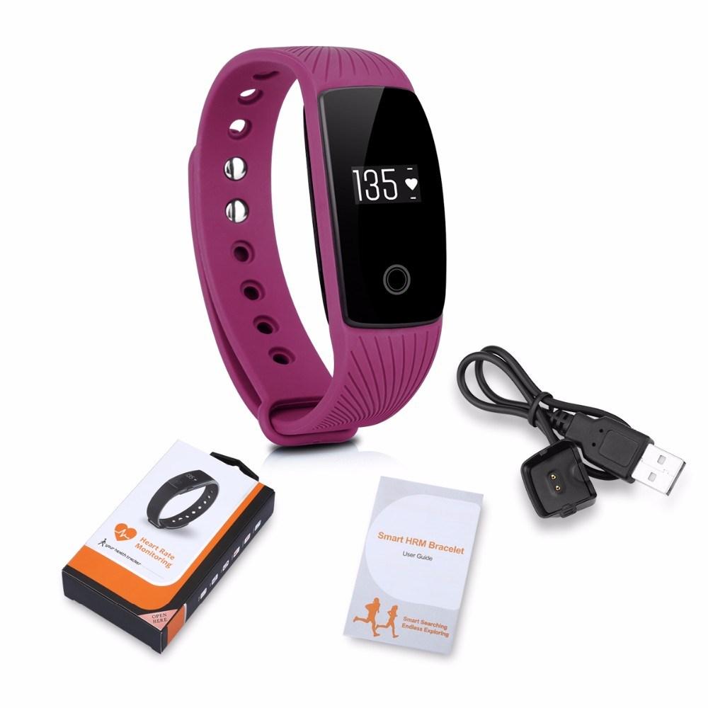 China Heart Rate Monitor Bluetooth Smart Wristband Id107 Smart Band