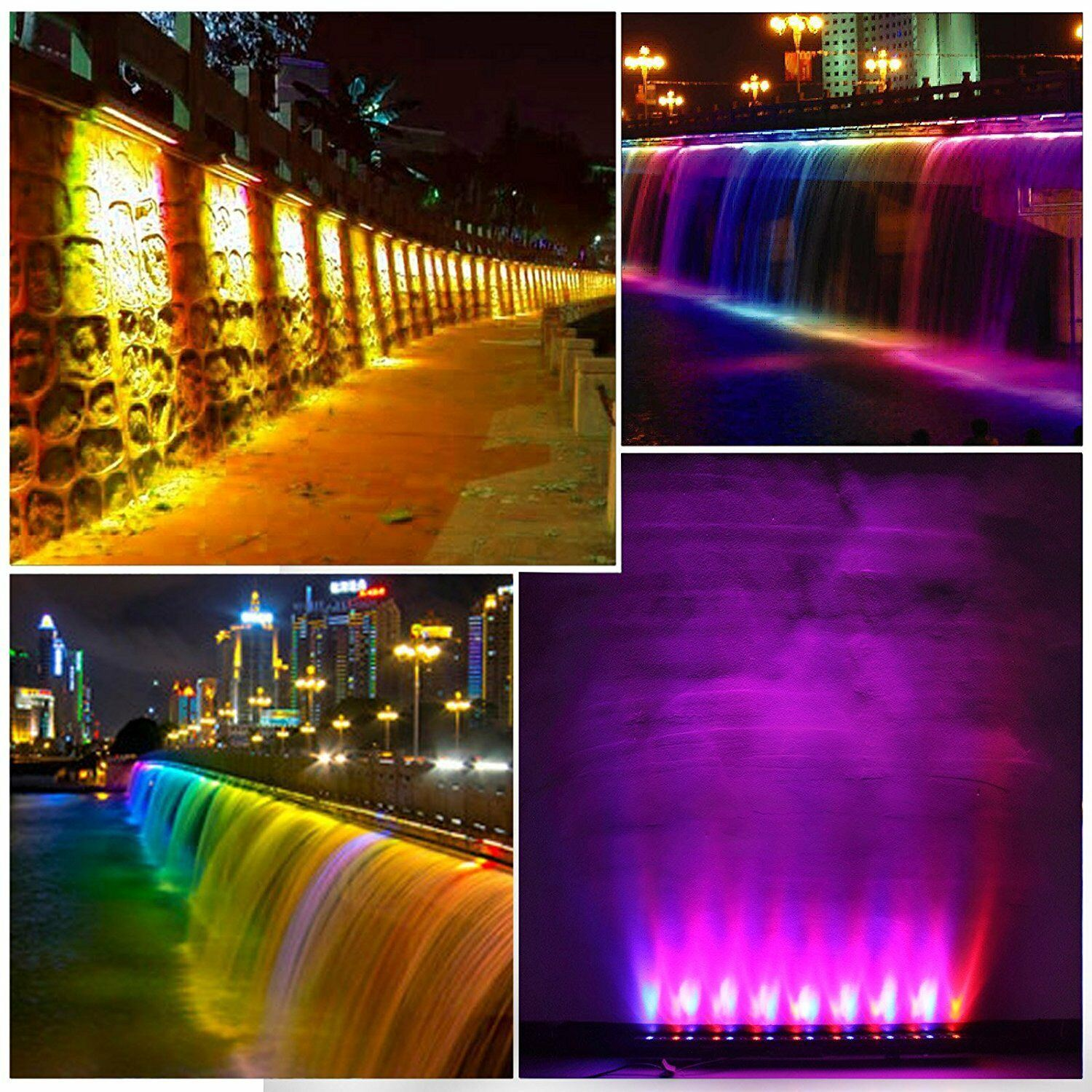 Garden Patio Outdoor Led Wall Washer Light Waterproof Flood Lamp Stainless Landscape Stage Catechesis It