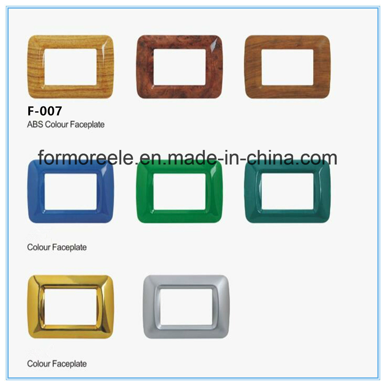 China Three Way Wall Plate for Italian Wall Switch /Colourful Plate ...