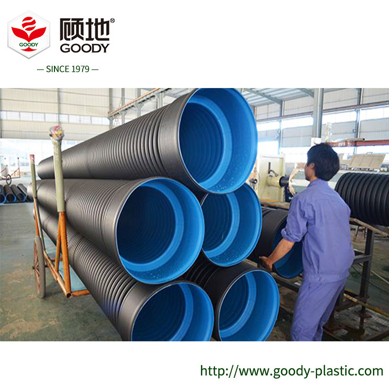 [Hot Item] HDPE Double Wall Corrugated Polyethylene Storm Sewer Pipe  Manufacturers