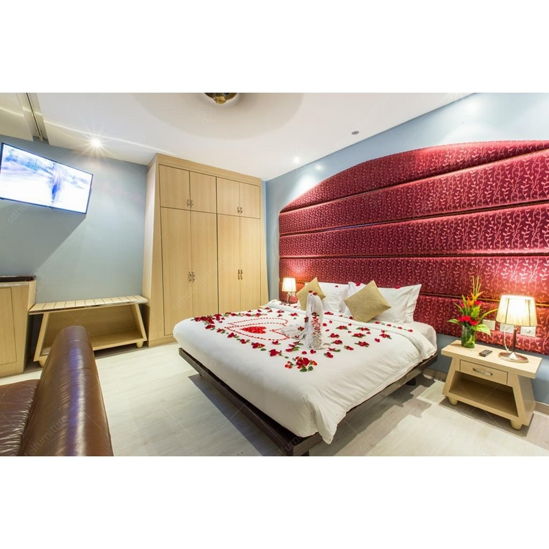 Luxury India Style Hotel Bed Room Furniture With Villa