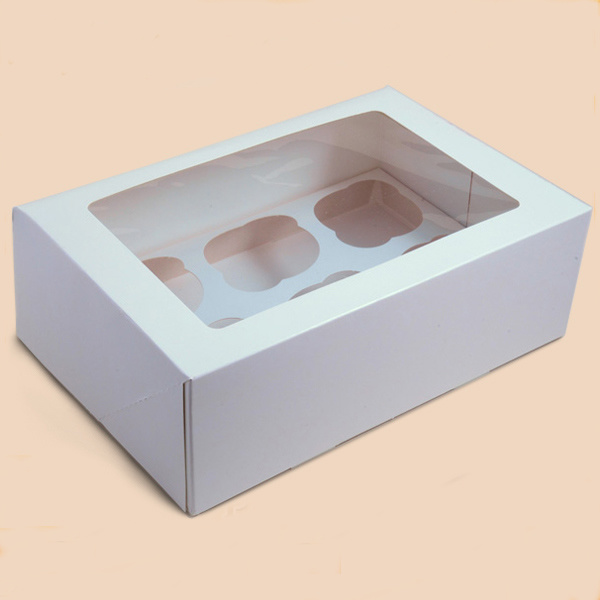 Eco-Friendly White Paper Box/Cupcake Box/Packing Box pictures & photos