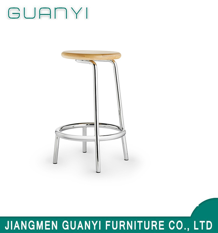 Wondrous Hot Item 2019 Hot Sale Wooden Seat Metal Leg Coffee Bar Stools Gmtry Best Dining Table And Chair Ideas Images Gmtryco